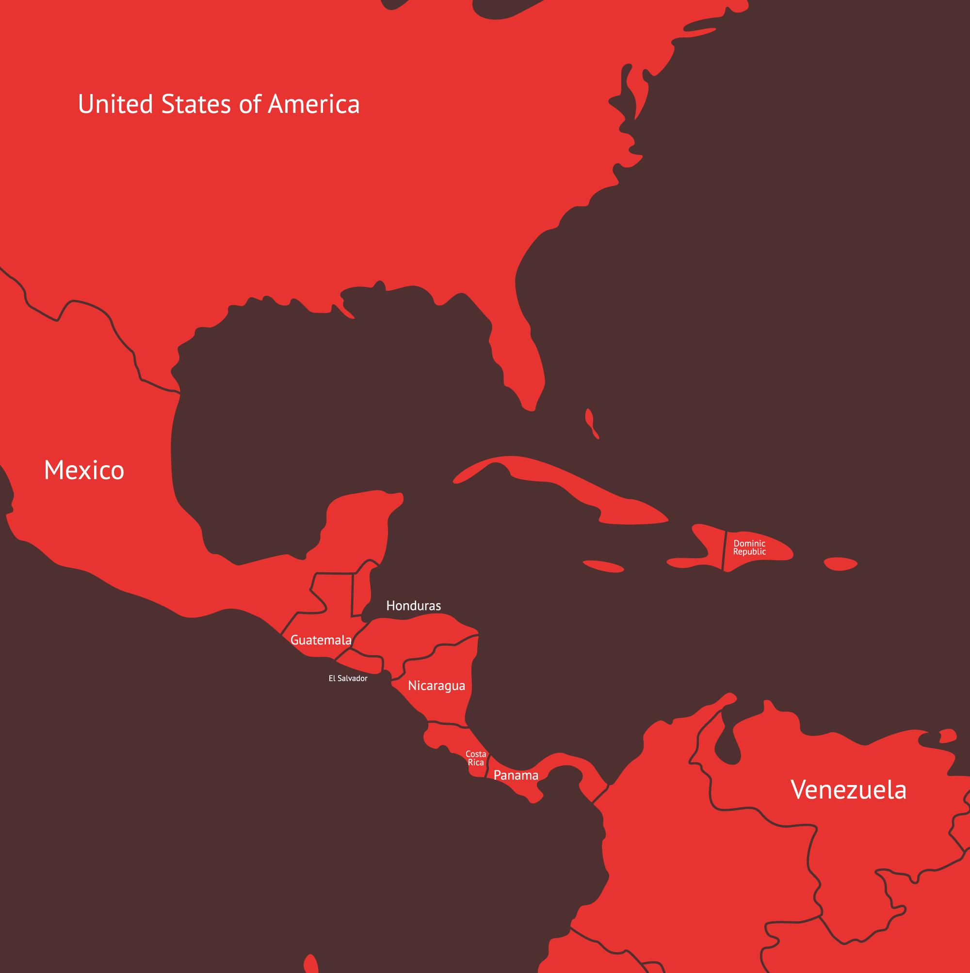 world map latin america us cayman islands location on the north